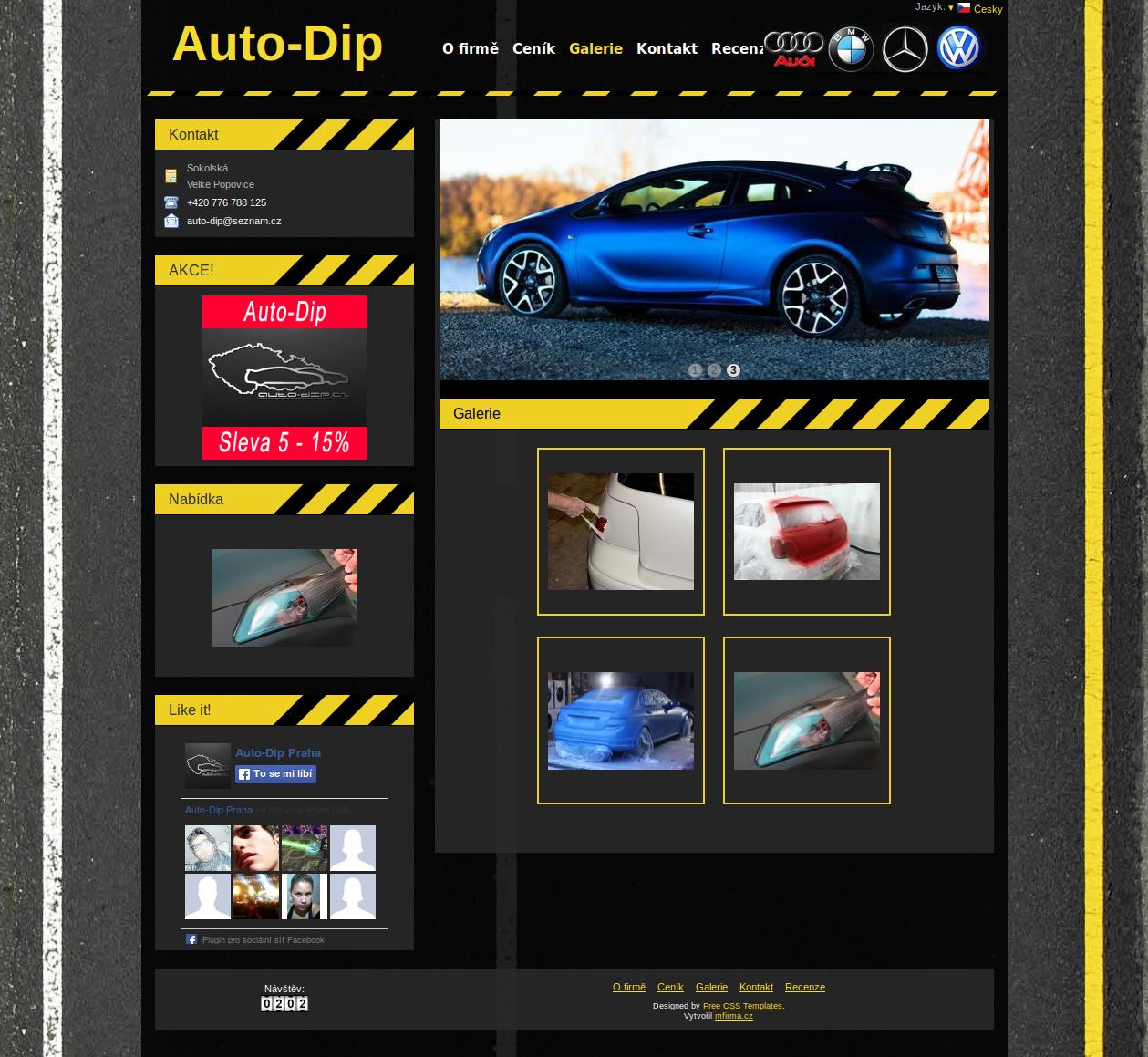 Ukázková webová stránka - Auto-Dip