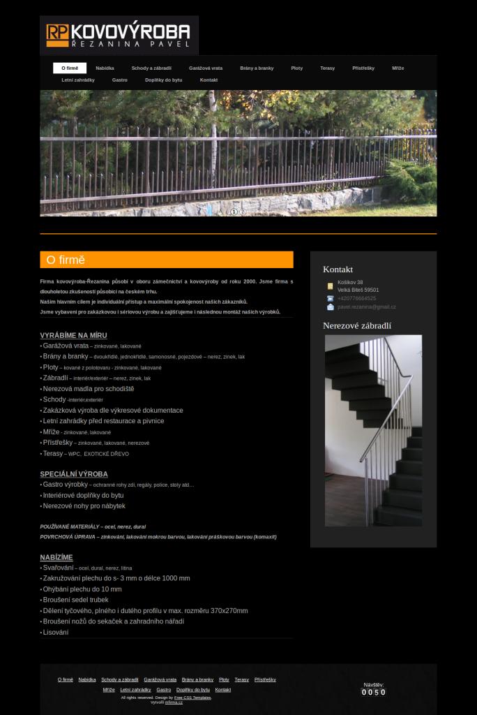 Zámečnictví a kovovýroba - Firma Kovovýroba - Řezanina