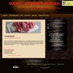 Příklad webové stránky pro firmu v oboru řeznictví - MASO - UZENINY BURIAN