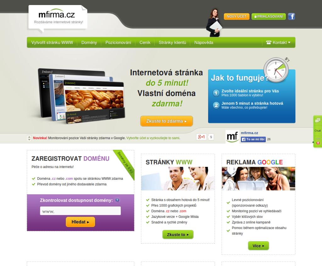 Služba s šablonami webových stránek