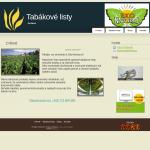 Příklad webové stránky pro obchod - tabákové listy - Eko Natural