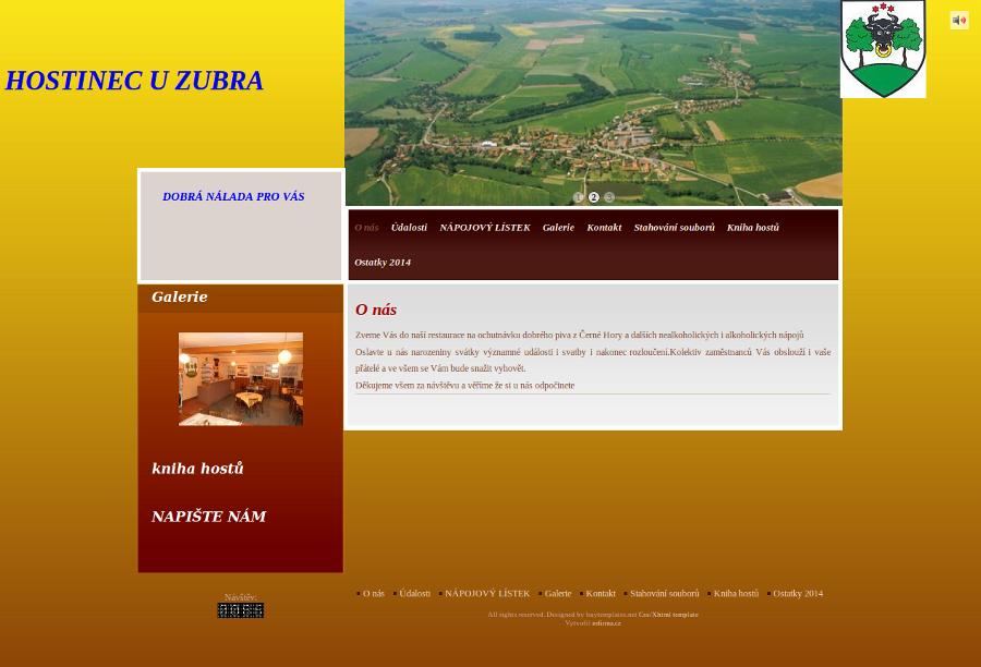 Ukázková webová stránka hostince - Hostinec u zubra