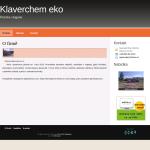 Ukázková webová stránka společnosti Klaverchem eko s.r.o.