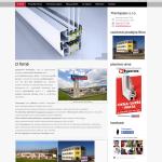Příklad webové stránky - hliníková okna a dveře - Thermpasiv s.r.o.