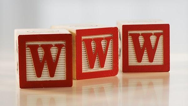 Alphabet blocks forming ???WWW???